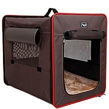 Petsfit 61cm X 46cm X 53cm Foldable Cat Kennel,Cat Cage,Dog Kennel,Lightweight Pet Kennel