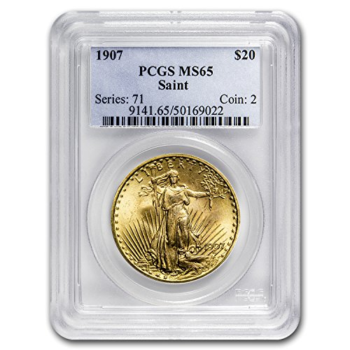 - 1907#N/A $20 St. Gaudens Gold Double Eagle MS-65 PCGS G$20 MS-65 PCGS