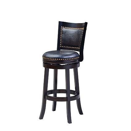 Incredible Amazon Com Rustic Counter Stool With Back Swivel Bar Stool Creativecarmelina Interior Chair Design Creativecarmelinacom