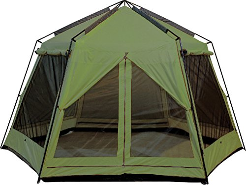 World Famous 13x12 Foot Lodge Screen Gazebos with Rain Flaps