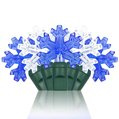 Blue And White Led Snowflake Lights in US - 3