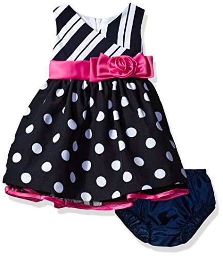 - Bonnie Baby Sleeveless Stripe and Dot Dress with Panty