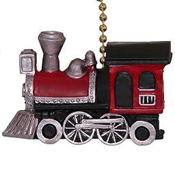 Choo Choo Train Locomotive Nursery Fan Light Pull