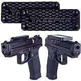 Gun Magnets 2-Pack - Magnetic Gun Mount & Holster - HQ Rubber Coated 35 lbs Firearm Accessories. Concealed Holder for Handgun, Rifle, Shotgun, Pistol, Revolver, Vehicle, Home, Truck, Car, Wall, Safe.