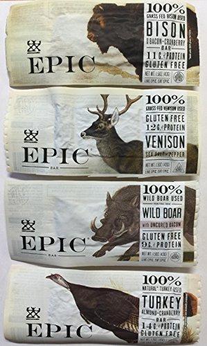 - Epic - Epic Bar Sample Pack (4 Bars Total) Bison, Venison, Wild Boar, Turkey.