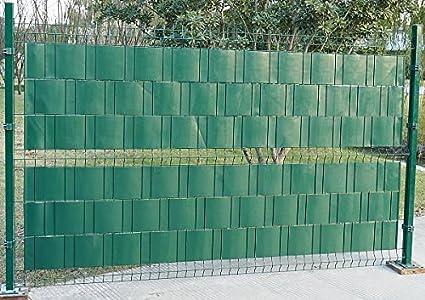 WOLTU Pantalla de Privacidad para Balcón Valla Protectora de privacidad Rollo de PVC para Valla Jardín Cubre Vallas Jardín para Vallas Metálicas 0,19x35 m Verde(2pieza): Amazon.es: Hogar