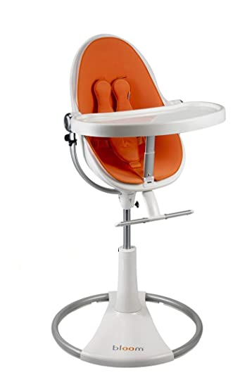 Attirant Bloom Fresco Loft High Chair   White / Harvest Orange