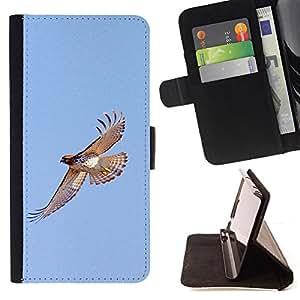 Ihec-Tech / Negro Flip PU Cuero Cover Case para LG G3 - Oiseaux Bleu Sky Wings Nature