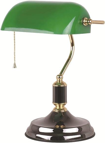 Style Art Déco de bureau banquier Lampe Verre albâtre altmessing Living-XXL