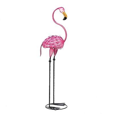 Zings & Thingz 57070079 Fabulous Flamingo Garden Statue, Pink: Home & Kitchen