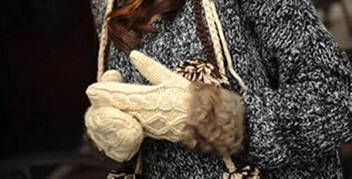 [1-Pair Magnificent Chic Women's Warm Gloves Comfortable Thermal Decor Girls Warmer Colors Beige] (Billiard Girl Costume)