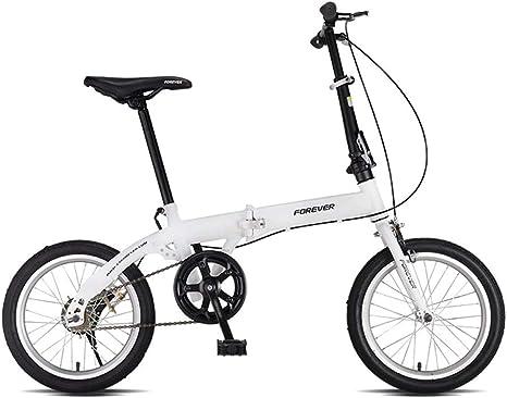 Weiyue Bicicleta Plegable- Bicicleta Plegable 16 Pulgadas ...