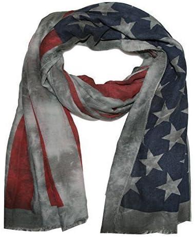 USA batik Sciarpa Stola America con Stelle