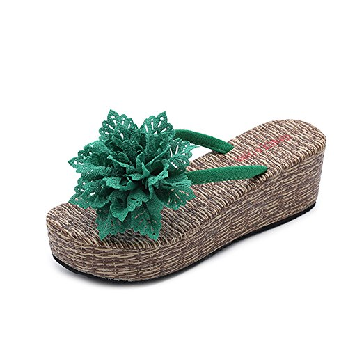 excellent.c Wedge Sandals Fashion Outdoor Slippers Beach Sandals Non-Slip Shoes(Green 39/8.5 B(M) US Women) ()