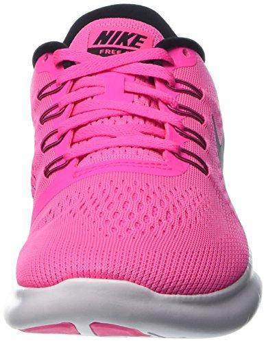 Nike Womens Free RN Running Shoes Pink Blast/Fire Pink/White/Black 5 B(M) US by Nike (Image #4)