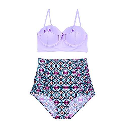 Push Costume Alta Bikini Vita Balza up Forti Da Lmshm Lavender Con Donna In Costumi A Fascia Bagno Taglie 8xw7IH