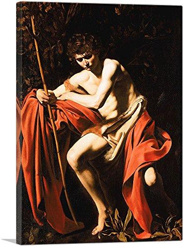 ARTCANVAS Saint John The Baptist in The Wilderness 1604 Canvas Art Print by Caravaggio - 26