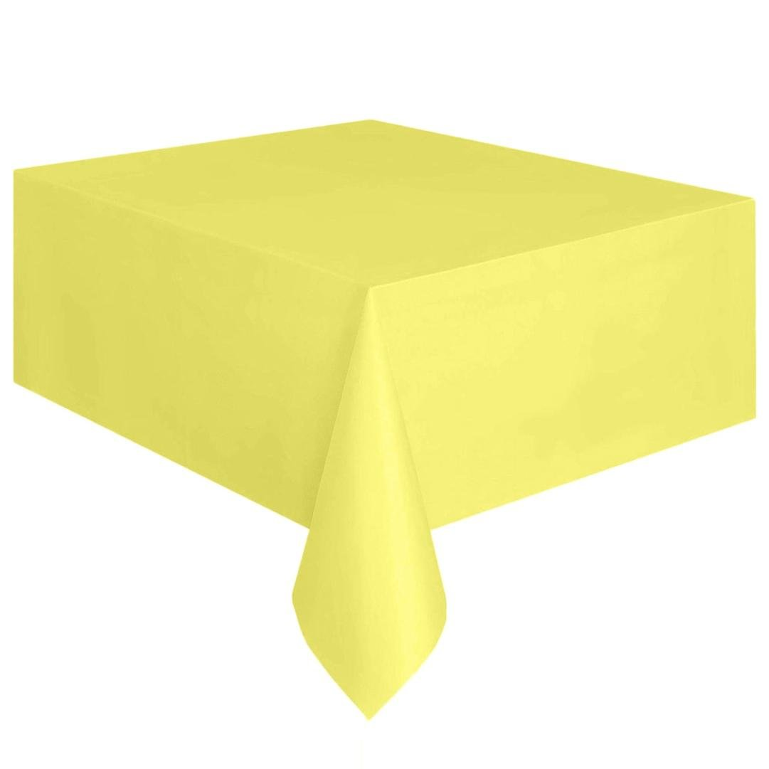 Coohole Disposable Plastic Tablecloth,6ft x 4.5ft Rectangle Table Cover (Yellow)