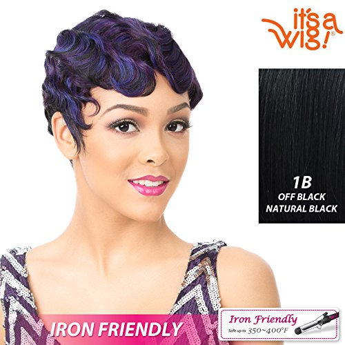 It's A Wig Synthetic Hair Wig Nuna (1B - OFF BLACK)