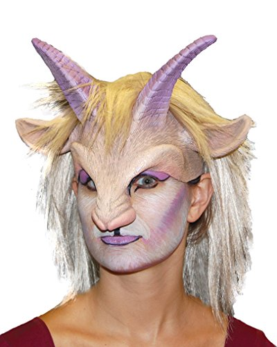 Zagone Goat'ress Mask, Horns, Nose, and Hair, Animal, (Pan Horns Costume)