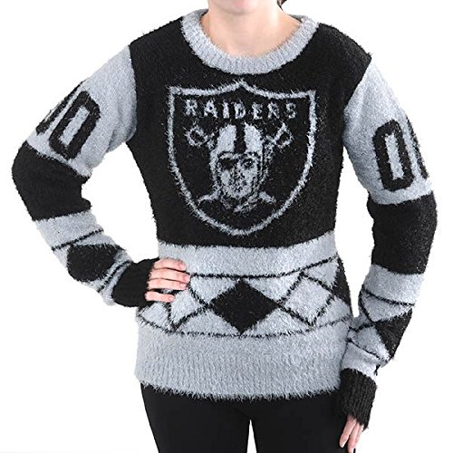 NFL Football 2015 Womens Eyelash Ugly Sweater - Pick Team (Oakland Raiders, Small) (Oakland Raiders Nfl Eye)