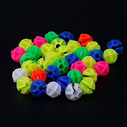 カラフルなプラスチック製のクリップオン自転車装飾 自転車の車輪の装飾スポーク 小さなボール