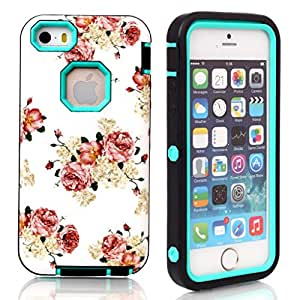 5S,5S cover (iPhone),Ezydigital Carryberry hard case for 5S,5S Hybrid Case Cover (Green)