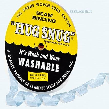100yds 1//2\ Schiff Seam Binding Hug Snug Ribbon Color Aquarelle #702