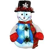 WeRChristmas Pre-Lit Snowman Christmas Decoration With Led Lights, 40 Cm - Large