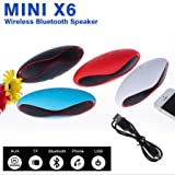 ESTAR MINI Bluetooth Multimedia Speaker System with FM / Pen Drive / Micro-SD Card Slot Apple iPad Wi-Fi and All Other Smartphones - Rugby Mini X6