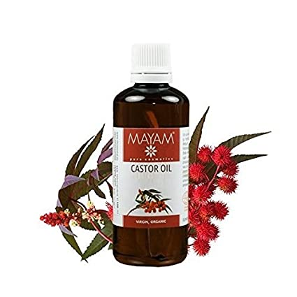Aceite de ricino 100% Bio orgánico por de presión en frío – para cabello, uñas, Cejas 100 ml