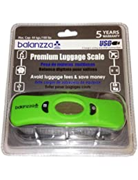MINI USB Rechargable Digital Luggage Scale Capacity with Backlight Display, BZ400U 5 years,Green,One Size