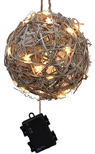 Outdoor Lighted Twig Balls - 3