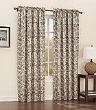 Sun Zero Woodland Leaf Print Rod Pocket Curtain Panel, 54″ x 84″, Neutral Tan For Sale