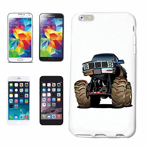 """cas de téléphone iPhone 6+ Plus """"OFF ROAD 4X4 MONSTER TRUCK 4 × 4 LANDROVER BUGGY AUTOCROSS Stockcar RACE"""" Hard Case Cover Téléphone Covers Smart Cover pour Apple iPhone en blanc"""