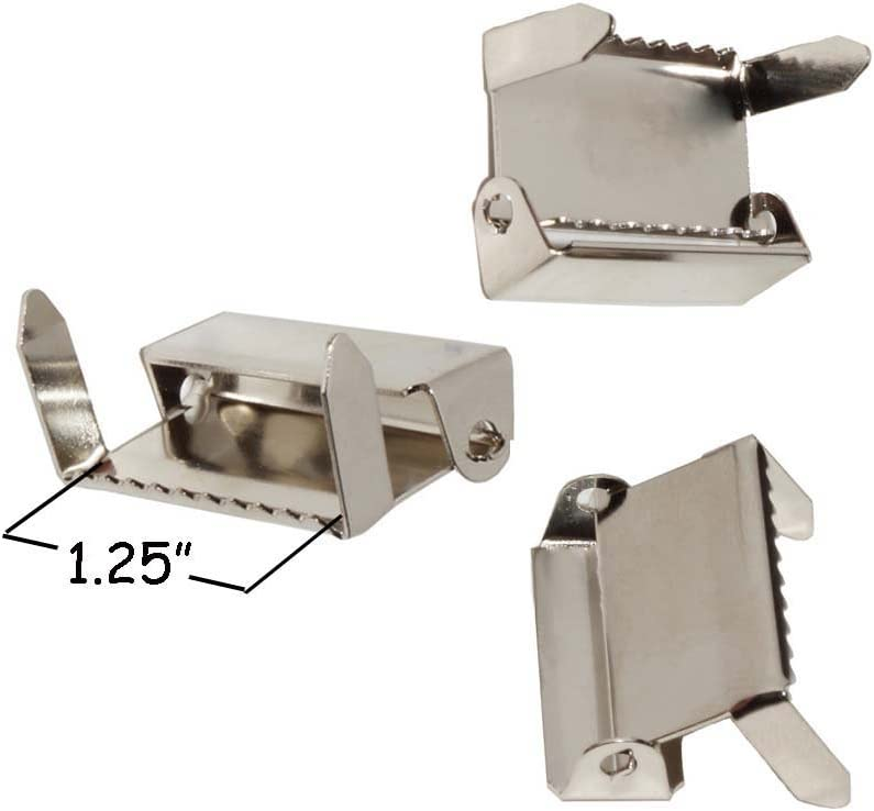 1 Nickel Qty 100 Ratchet with Legs Suspender Slide Adjusters