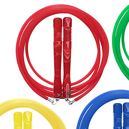 VividSkip Jump Rope - 1/2 LB HIIT - Boxing - Cardio - Contoured Anti-Slip Handles - Lose Weight with The Toughest Jumpropes on The Market - Skip on Any Surface, Any Where