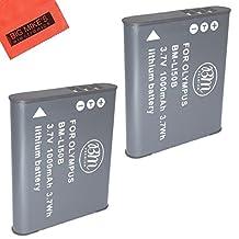 BM Premium 2-Pack of LI-50B Batteries for Olympus SZ-10, SZ-12, SZ-15, SZ-16 His, SZ-20, SZ-30MR, SZ31MR his, TG-610, TG-630 his, TG-810, TG-820, TG-830 his, TG-870, XZ-1, XZ-16 iHS Digital Camera