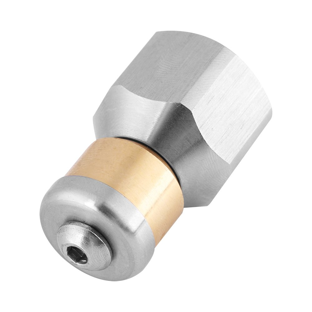 Stainless Steel SS304 Rotating Drain Blaster Cleaning Nozzle Sewer Jetter Nozzle 3/8' BSP Female Thread For Pressure Washer Walfront