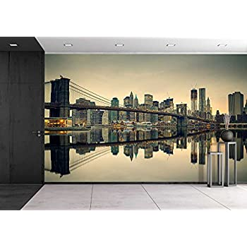 Wall26   Brooklyn Bridge And Manhattan At Dusk, New York City   Removable Wall  Mural Part 97
