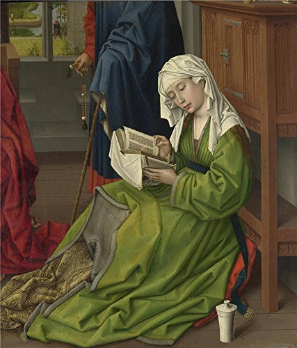 The Polyster Canvas Of Oil Painting 'Rogier Van Der Weyden The Magdalen Reading ' ,size: 18 X 21 Inch / 46 X 54 Cm ,this Imitations Art DecorativeCanvas Prints Is Fit For Gift For Girl Friend And Boy Friend And Home Decoration And