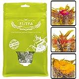 Elitea® 12pcs Prime Quality Jasmine Blooming Flowering Blossom Flower Tea Balls (Assorted 3 Styles)