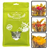 Elitea 12ct Blooming Tea Prime Quality Flowering Blossom Tea Balls, Assorted 3 Flower Styles