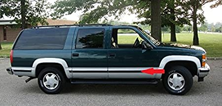 Amazon Com 1988 1998 Chevy Gmc Chrome Side Body Trim Molding Tahoe