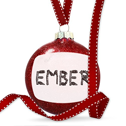 Christmas Decoration Ember Coal Grill Fire Place Ornament by NEONBLOND