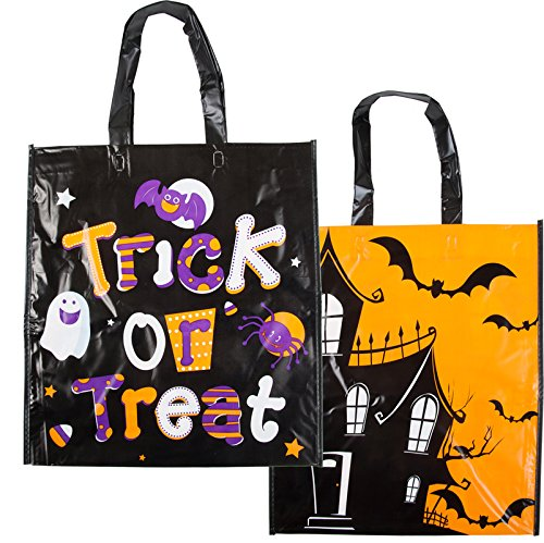 Costume Debbie Halloween (Halloween House Plastic Trick-or-Treat Bag in Assorted Colors and Designs - 2)