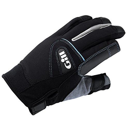 Gill 2017 Ladies Championship Long Finger Sailing Gloves Black 7262 Size - - Medium