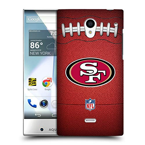Official NFL Football 2018/19 San Francisco 49ers Hard Back Case Sharp Aquos Crystal ()