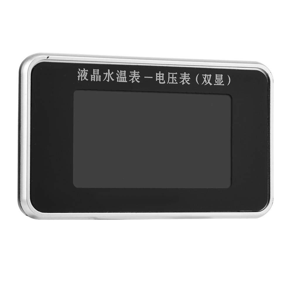 Fydun Water Thermometer Sensor Car LCD Screen Voltmeter Water Temperature Meter Gauge 12V//24V//36V