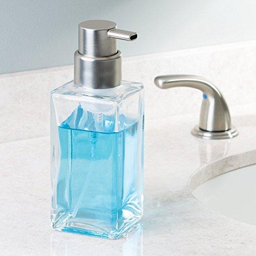 Interdesign Casilla Modern Glass Foaming Soap Dispenser